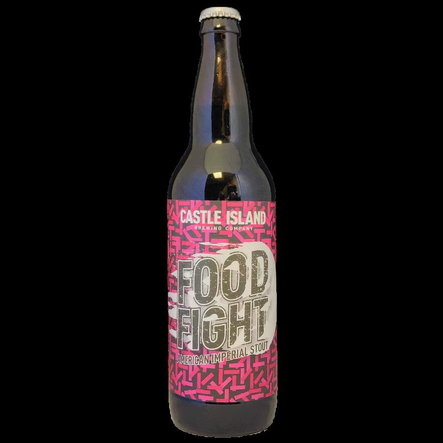 Barrel aged imperial stout bottle